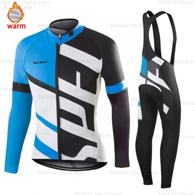 Conjunto de roupa de ciclismo masculina, camiseta e calça profissional de equipe para ciclismo mtb, calças, inverno, lã, 2020 triathlon 4