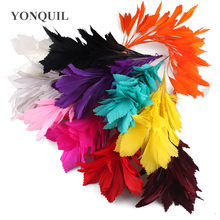 Nice Wedding corsages Flower Feathers Dance Latin Dance Decoration Elegant Dinner Party Plume Headwear DIY accessories 10PCS/LOT(China)