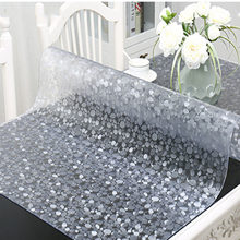 QQPQGG New Table Cover 1.00mm 1.5 Mm Soft Glass Transparent PVC Tablecloth Waterproof Party Wedding Home Kitchen Dining Placemat