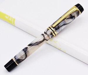 Image 2 - Kaigelu 316 celuloidowe pióro wieczne, stalówka Iridium EF/F/M piękny marmurowy wzór kryształu pióro atramentowe prezent do pisania dla biura