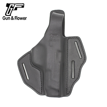 Gun&Flower S&W M&P 45 Full Size Thumb Break Holster 3 Slot OWB Italy Leather Open Muzzle Tactical Hunting Pistol Case Cover