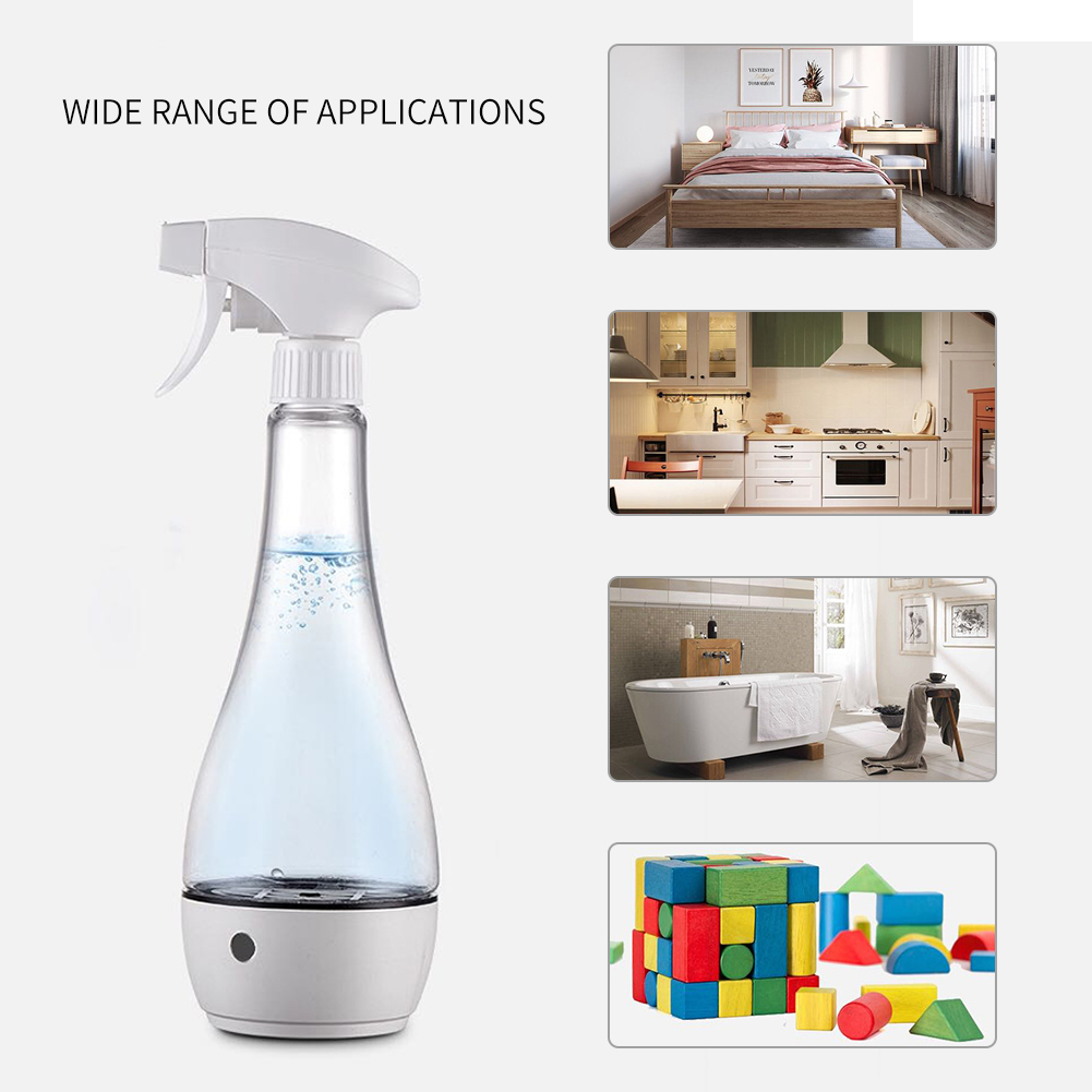 500 ml Disinfectant Liquid Generator for Efficient sterilization with 3600mAh Large Battery 7