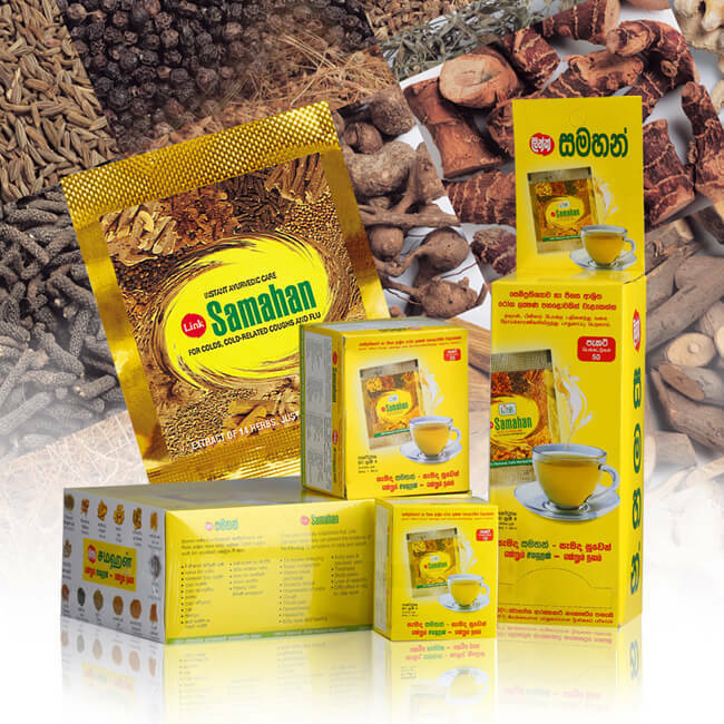 Sri Lanka ayurvedic natural herbal formula, t ea d rink package 30/100 bags cold/cough/ fever