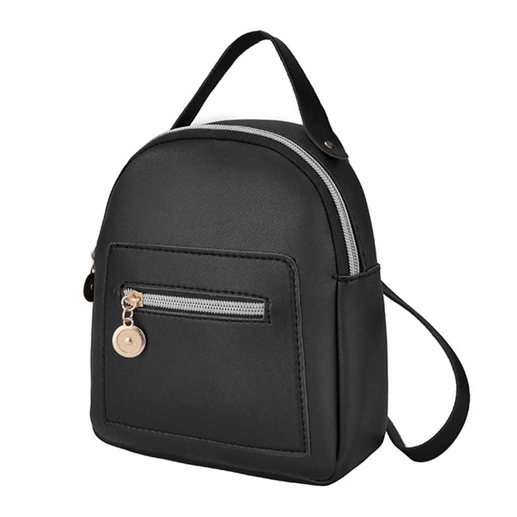 Mini sırt çantası kadın PU deri omuz çantası genç kızlar için çocuklar çok fonksiyonlu küçük sırt çantası kadın bayanlar okul sırt çantası