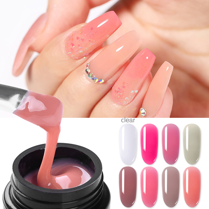 1 Box PICT YOU Clear Nail Extension Gel Semi-transparent UV Building Gel UV LED DIY Nail Finger Extensions