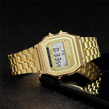 Di lusso da Donna In Oro Rosa Orologi In Silicone di Modo Delle Donne Orologio Digitale A LED di Casual Signore Orologio Elettronico Reloj Mujer 2020