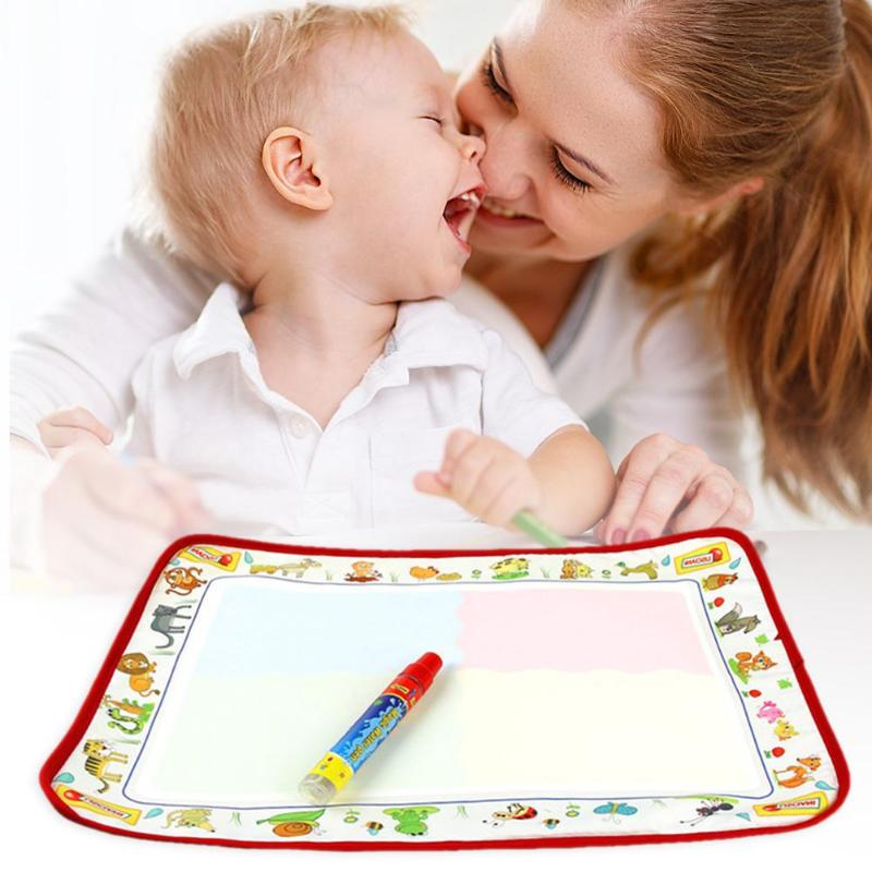 Cute Kids Play Mat Doodle Mat Parent-Child Interaction Child Drawing Water Cloth Magic Canvas Necessary Decompression Toys