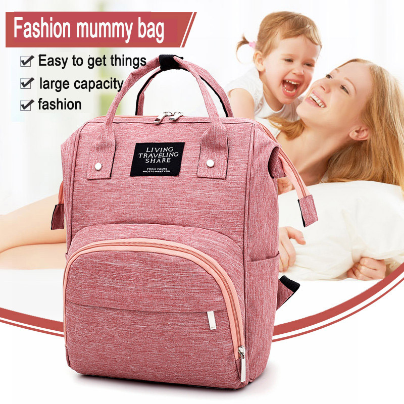Fashion Mummy Maternity Nappy Bag Multifunctifon Baby Daiper Bag For Mommy Stroller Diaper Bags Backpack For Moms Changing Bag