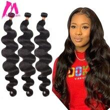 브라질 인간의 머리카락 번들 확장 바디 웨이브 확장 8 ~ 30 인치 긴 자연 블랙 여성 레미 1 3 4 번들