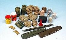 Conjunto de equipo moderno para niños, kit de figura de resina en miniatura gk sin montar, sin pintar, 1/35