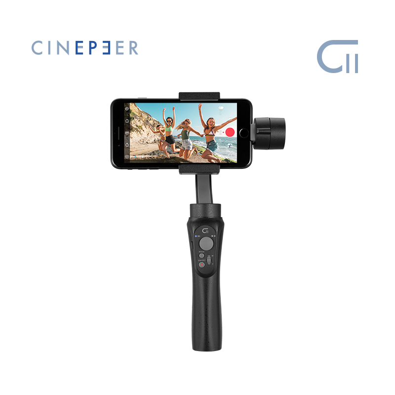 Cinepeer c11 cardan móvel oficial para iphone/samsung 3-axis vlog estabilizador portátil alimentado por zhiyun vs isteady