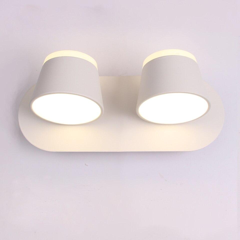 LED Lâmpada de Parede Para O Quarto de Cabeceira Sconce Parede Do Banheiro Parede Branca Montada Luminária Moderna Iluminação Do Hotel 8W 16W 360 rotação