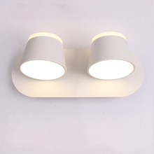 LED Wall Lamp For Bedroom Bedside Bathroom Wall Sconce White Wall Mounted Luminaire Modern Hotel Lighting 8W 16W  360 rotation