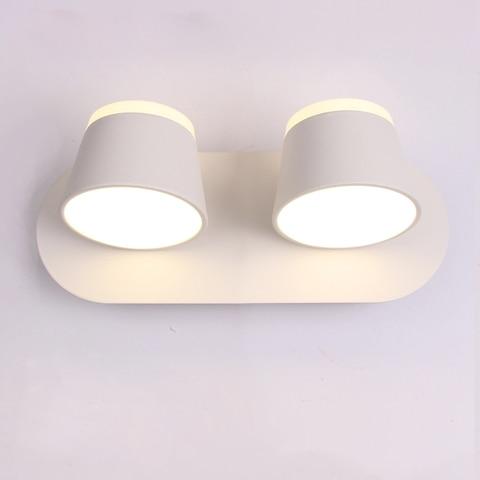 led lampada de parede para o quarto cabeceira do banheiro arandela branco fixado na parede