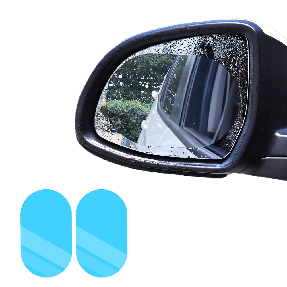2Pcs Car Rearview Mirror Anti Fog Film Anti Rain Coating Waterproof Rainproof Film Car Window Foils Protective Films