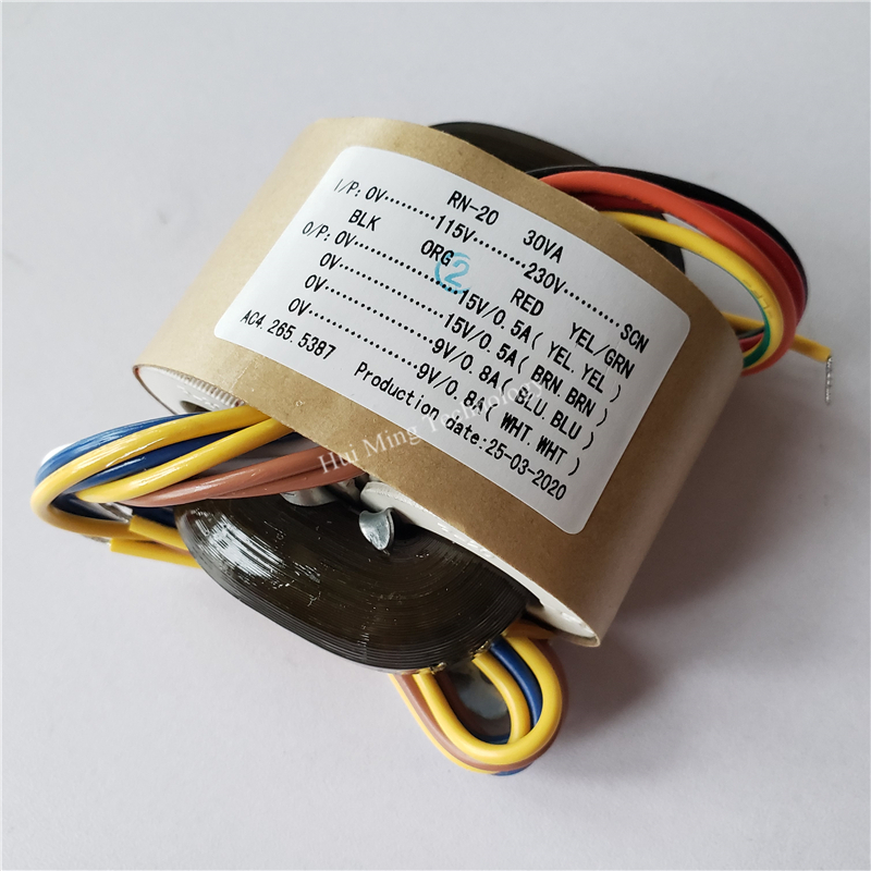 15V 0.5A 15V 0.5A 9V 0.8A 9V 0.8A R Core transformer 115-230V input <font><b>30VA</b></font> for amplifier Power supply image