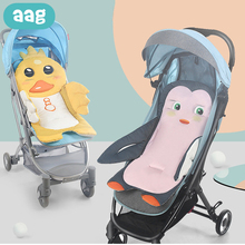AAG Cotton Baby Stroller Pad Mattress Baby Car Stroller Seat Cushion Newborn Trolley Mat Accessories Cart Pram Insert Liner