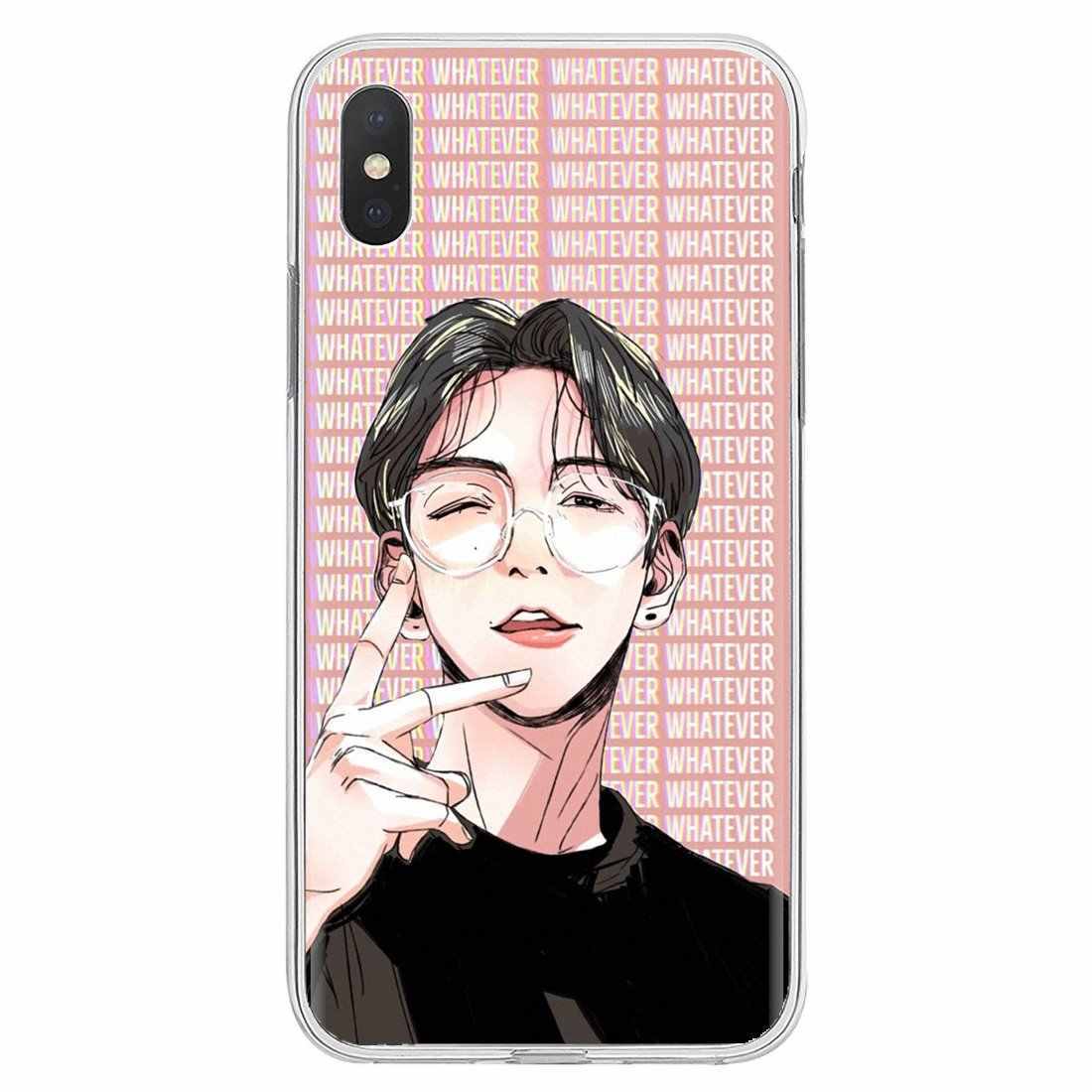 Inspirational Silicone Phone Case Kpop EXO Lucky For Huawei G7 G8 P7 P8 P9 P10 P20 P30 Lite Mini Pro P Smart 2017 2018 2019