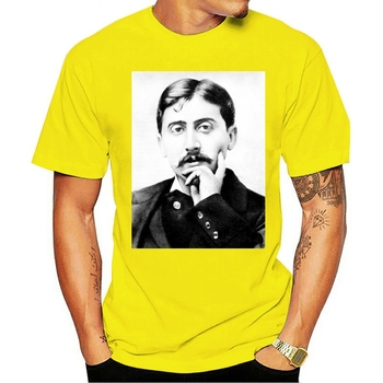 2021 Leisure Fashion 100% cotton O-neck T-shirt Marcel Proust French Writer of Remembrance of Things Past image