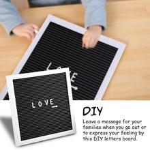 Letter-Board Felt Office Home Wooden-Frame Message-Sign Alphabet DIY Changeable 25cm--25cm