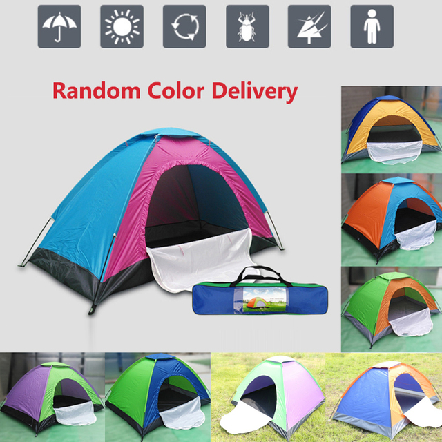 Outdoor Tents Protable Camping Beach Tent Waterproof for Sun Shelter Travelling Hiking 2 / 4 / 6 / 8 Person Large Space 8 Color