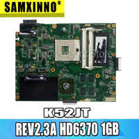 K52JT placa base Para ASUS K52JU K52J A52J K52JR K52 K52JE X52J placa base portátil REV2.3A HD6370 1GB