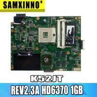 Motherboard Para ASUS K52JU K52JT K52J A52J K52JR K52 K52JE X52J Laptop motherboard mainboard REV2.3A HD6370 1GB