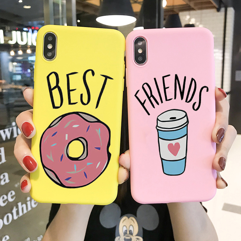Galleria fotografica Sweet Bff Print Case For Iphone 6S 6 7 8 X Xr Xs Max Case Silicone I Love My Bff FRIENDS Soft Cover For Apple Iphone Phone Case