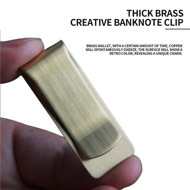 Thick Brass Copper Money Clip