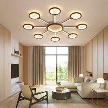 New Brown Ceiling Lamp for living room bedroom Aluminum Modern LED Light lamparas de techo colgante moderna