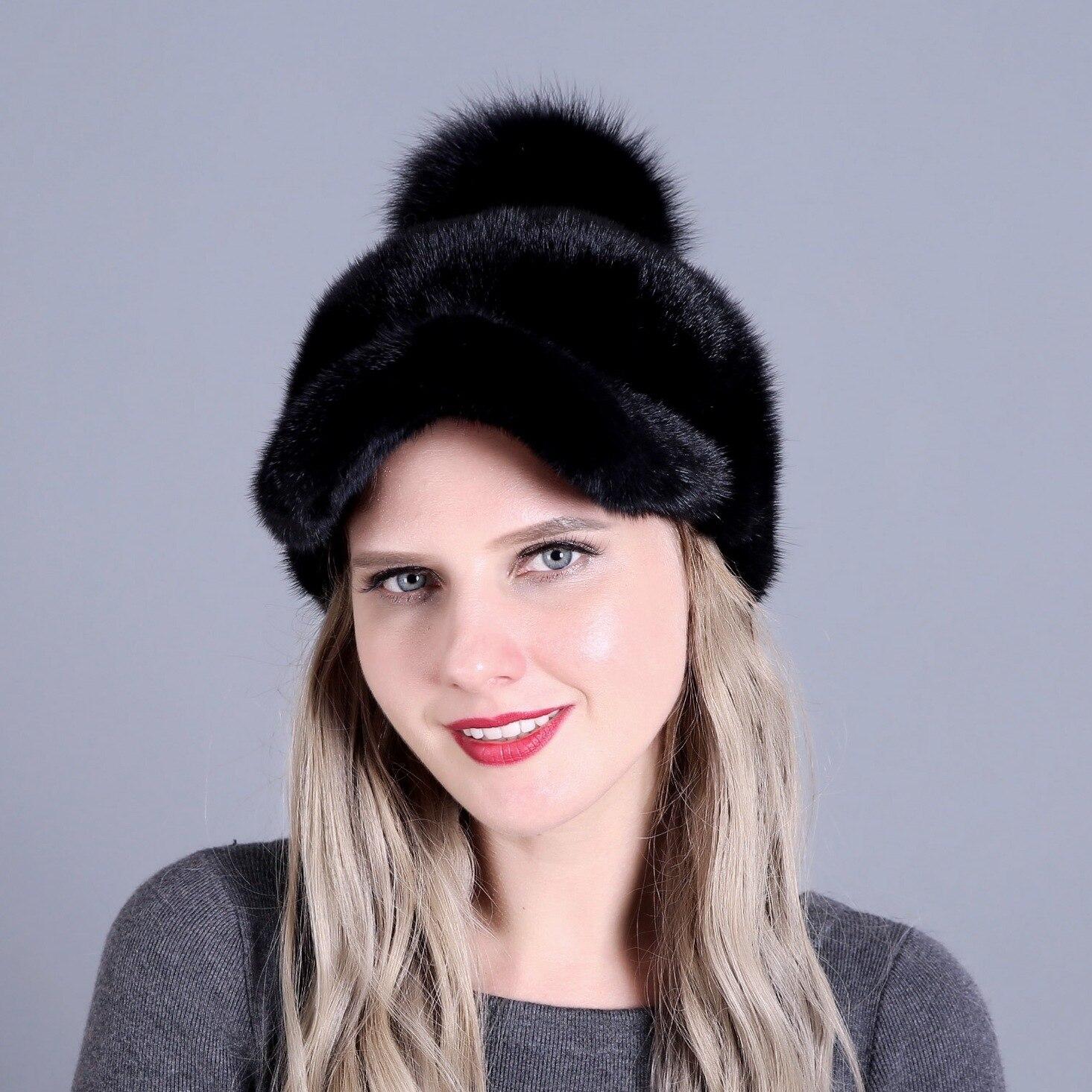 Женские зимние шапки 2019, зимние шапки для девочек, модные меховые шапки с помпонами, зимние шапки для девочек, роскошные модные шапки