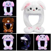 Новая милая плюшевая шапка с кроликом, забавная игрушка с ушками, подарок для детей, девочек, модная шапка с ушками кролика