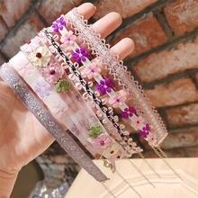 Kpop милое романтическое ручной работы кружевное стерео цветок