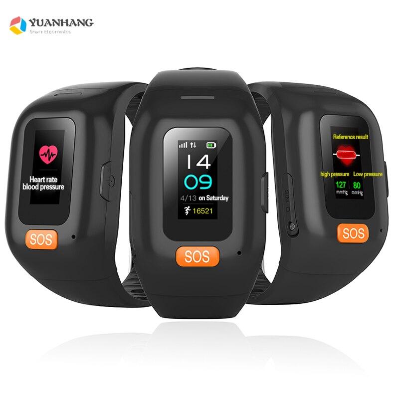 Умный Браслет, длительное время ожидания, для пожилых мужчин, студентов, SOS часы для IOS, Android, пульсометр, шагомер, GPS трекер, часы