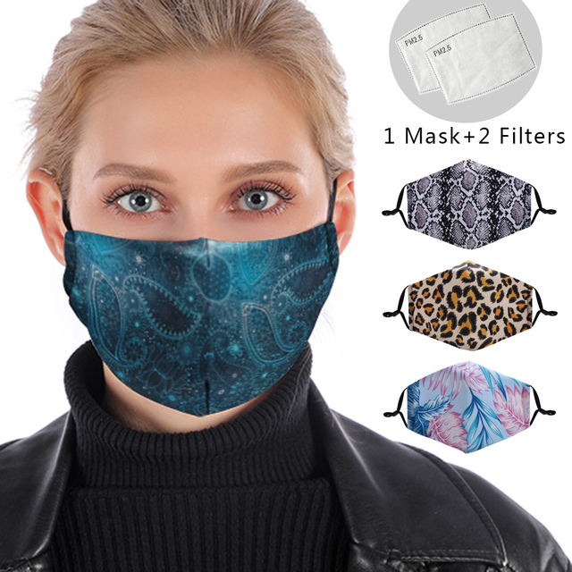 Reusable Face Mask Washable Protective PM 2.5 Filter Anti Dust Anti Flu Mouth Mask