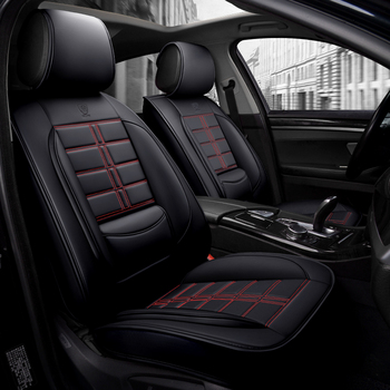 5D all surrounding car seat cover PU Leather car styling seat cover airbag enable for BMW audi benz toyota nissan mazda image