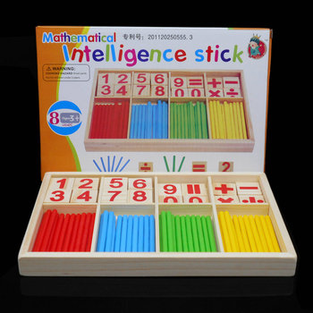 Montessori Wooden Number Math Game Sticks Box Educational Toy Puzzle Teaching Aids Set Materials wood toys Free shipping free shipping wooden toys letter puzzle animal makeup children s early education puzzle montessori teaching aids thebutterfly
