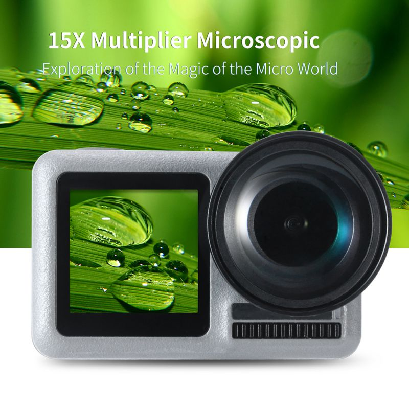 New Osmo Action Sport Camera Accessories Fashion Beautiful Durable 15 X Multiplying Power Macro Lens Filters