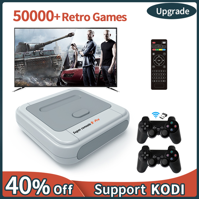4K HD Retro Game Console Super Console X Pro For PSP/PS1/DC/N64,Video Game Console With 50000+ Games,KODI,Support 2 Players