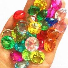 20mm falso diamante jóias tesouro baú pirata acrílico cristal gemas enchimento brinquedo adereços festa confetes natal decoração do casamento presente