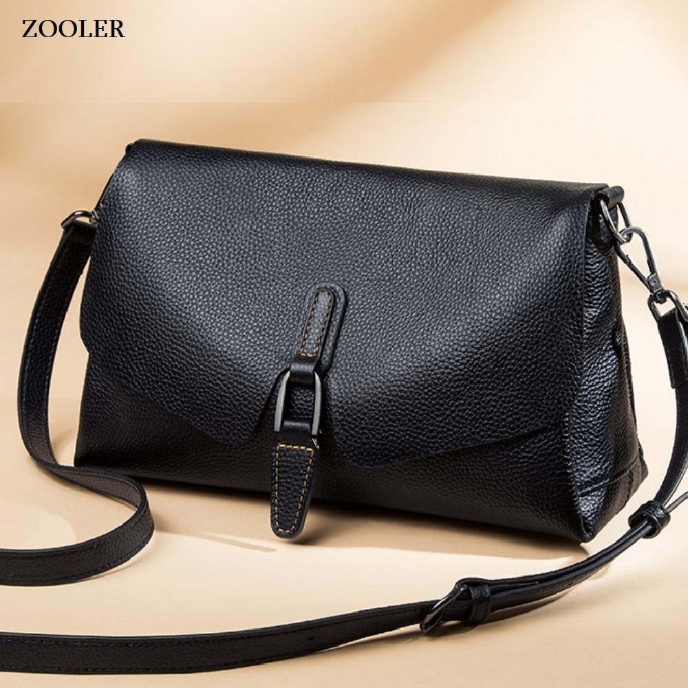 ZOOLER genuine leather shoulder bags women patchwork messenger bag crossbody fashion leather handbag purse bolsa feminina #LD200 messenger bag