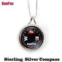 Kanpas 925 пробы Серебряное кольцо с родием компас античным