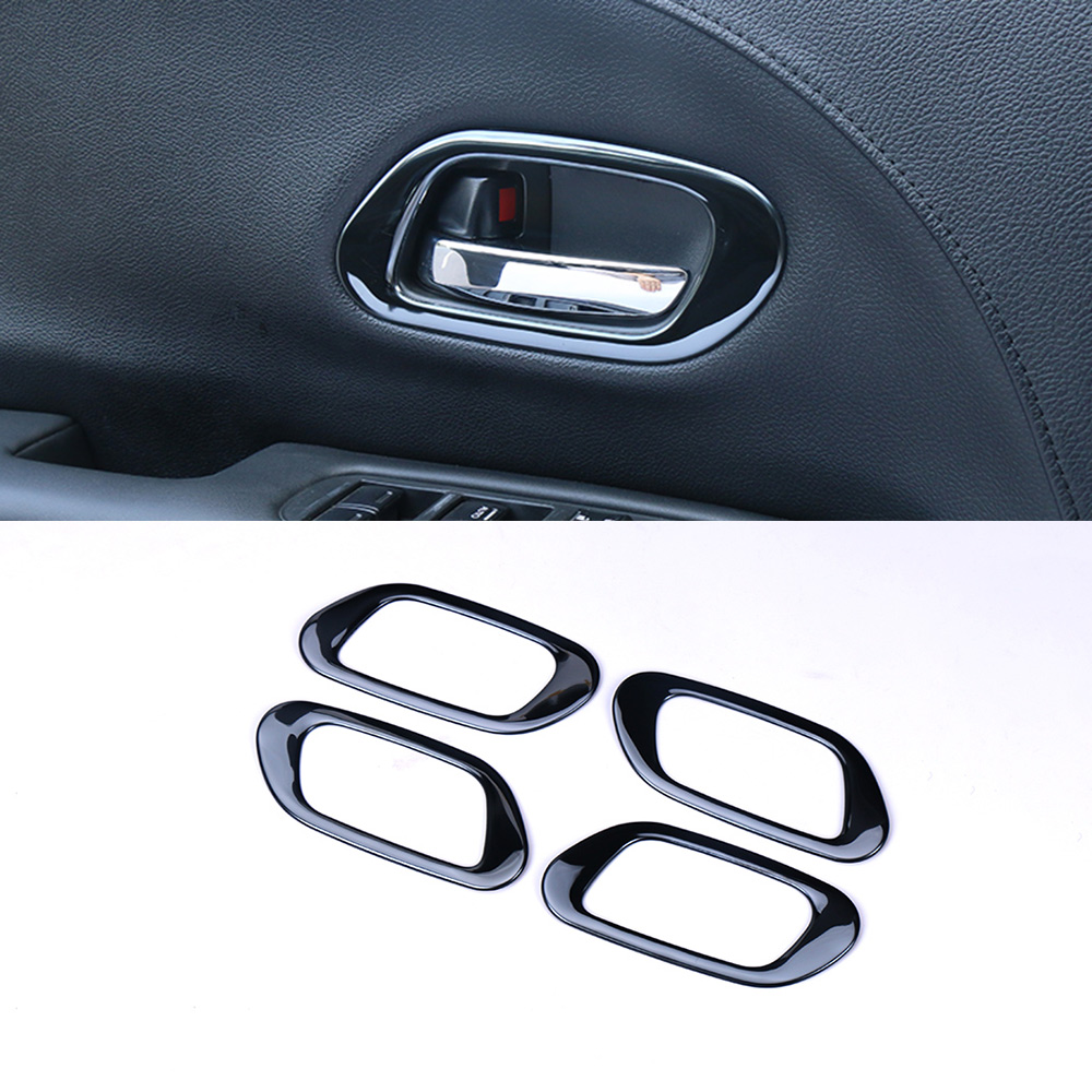 4PCS INTERIOR <font><b>DOOR</b></font> <font><b>HANDLE</b></font> TRIM BEZEL MOLDING GARNISH FOR <font><b>HONDA</b></font> HR-V <font><b>HRV</b></font> VEZEL 2017 2018 2019 ACCESSORIES CAR-STYLING image