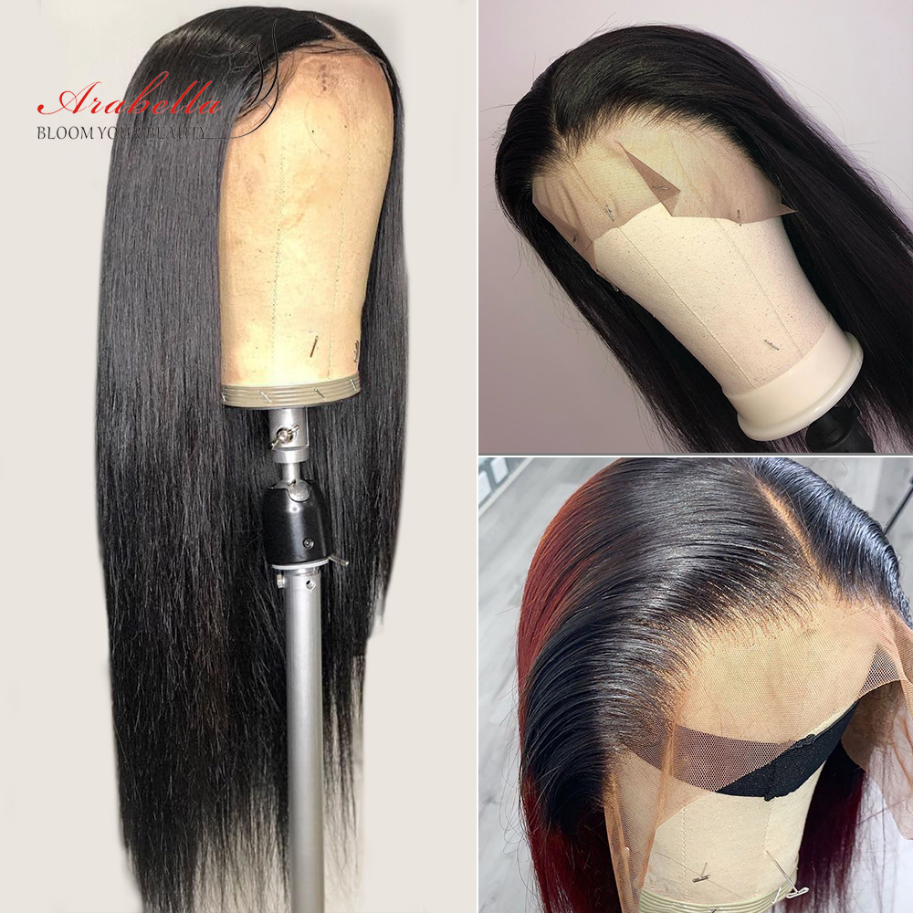 13x4 Lace Front Human Hair Wigs Straight 210% Density Pre Plucked For Black Women Arabella Brazilian Remy Hair Lace Front Wig