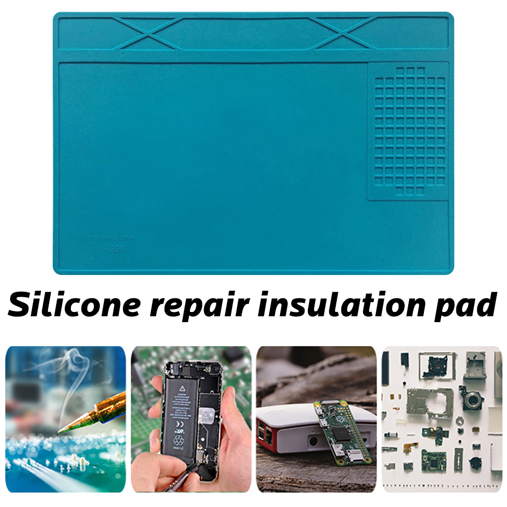 Heat-resistant Soldering Station Soldering Pad Silicone Heat Gun Insulation Pad Repair Tools Maintenance Platform Desk Mat