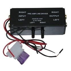 Nowe czarne wejście Rca/wyjście regulowane Pac Turbo 1 Line Driver wzmacniacz sygnału wzmacniacz Adapter do łodzi samochodowej