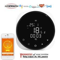 Ue google casa controle caldeira nc nenhuma válvula do radiador termostato wifi economia de energia infravermelho 16a
