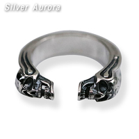 Adjustable Ring 100% 925 Sterling Silver Ring Retro Thai Silver For Men Women Lovers Fashion Cool Jewelry