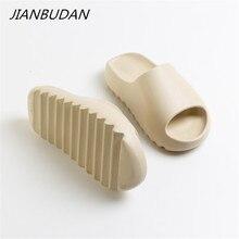 JIANBUDAN – pantoufles d'extérieur confortables et souples pour hommes et femmes, chaussures d'intérieur pour la salle de bain, sandales d'été plates à semelle épaisse en EVA