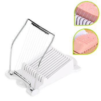 Stainless Steel Lunch Meat Slicer Banana Cutter Egg Ham Slicer Home Multi-functional Kitchen Gadgets Steel Wire Cutting Tool